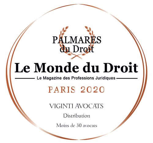 Viginti Avocats has been distinguished by the in-house lawyers and company managers in the annual 'Palmarès du Droit' survey and climbs on the podium in the category: DISTRIBUTION (-30 lawyers)